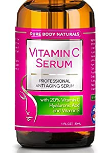 BLOWOUT SALE!! BEST ORGANIC Vitamin C Serum For Your Face. Botanical 20% Vitamin C + E + Hyaluronic Acid Serum. Anti Aging Serum Moisturizer with Natural Ingredients. + Organic Aloe + Amino Blend, Anti Wrinkle Serum Facial Skin Care, Helps Repair Sun Damage, Gradually Fades Sun & Age Spots & Reduces Fine Lines. We Guarantee our Vitamin C Serum Will Leave Your Skin More Radiant, Beautiful & Youthful Looking. We'll refund your money if you're not satisfied! Try Risk FREE!
