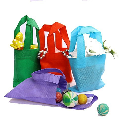 Dazzling Toys Poly Non-woven Tote Bags W/handles, Party Favor, Arts and Crafts - Pack of 12