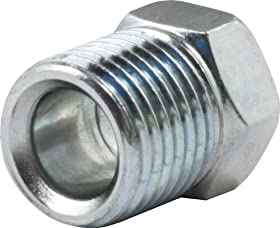 """Allstar Performance ALL50116 1/4"""" Zinc Plated Inverted Flare Nut, (Set of 10)"""