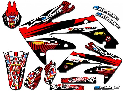 Senge Graphics 2006-2007 Honda CRF 250R Mayhem Red Graphics Kit (Honda Crf 250r Graphics compare prices)