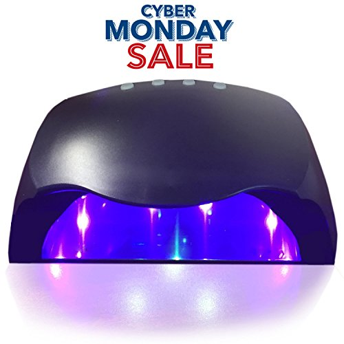 Professional Gel Polish LED Nail Dryer Lamp for Fingernails and Toenails - Safer for Nails and Skin Than Traditional UV Lamps - Black (Finger Nail Polish Gel Light compare prices)