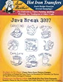 Java Break Aunt Martha's Hot Iron Embroidery Transfer