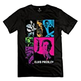 Geek Elvis Presley Poster Men's Tee Black