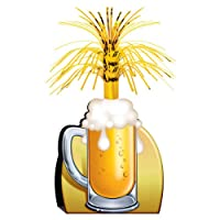 Beer Mug Centerpiece Party Accessory (1 count) (1/Pkg) by BEISTLE COMPANY, THE