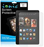 """Ionic Amazon Fire HD 7"""" and HD 7"""" Kids Edition 2014 Screen Protector Film Clear (Invisible) (3-pack)[Lifetime Replacement Warranty]"""