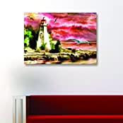 House Things Light House Canvas Print 29 X 20.56, Inches Wall Décor Art