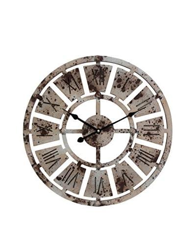 wall Clock Silver