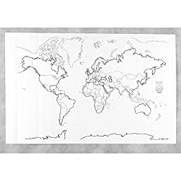 Pacon Corporation Giant World Map 48In X 72In