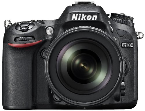 Nikon D7100 24.1MP Digital SLR Camera (Black) with AF-S 18-105mm VR II Kit Lens and AF-S DX VR Zoom-NIKKOR 55-200mm f/4-5.6G IF-ED Twin Lens 4GB Card, Camera Bag