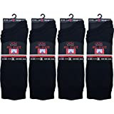12 Pairs Mens Big Foot Cotton with Lycra Black socks / Size 11 - 14