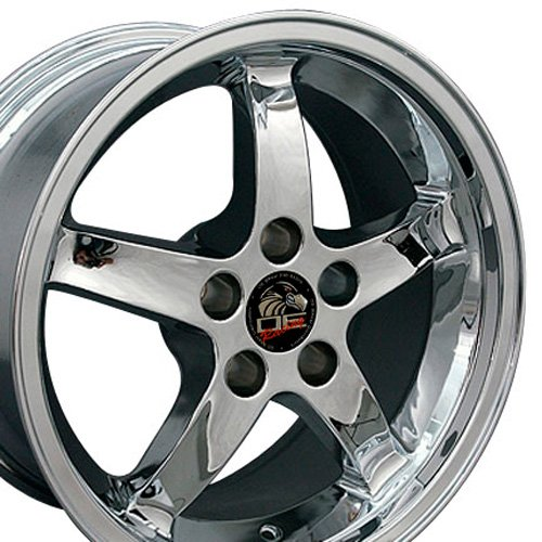 17x9 Wheel Fits Ford Mustang - Cobra R Style Chrome Rim (Mustang Saleen Wheels compare prices)