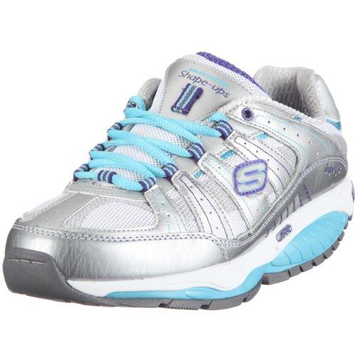 Skechers Women's Kinetix Response Sneaker Silver UK 3