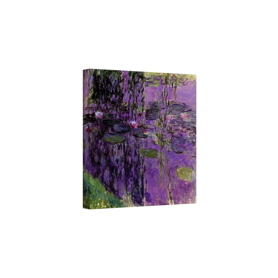 Art Wall Lavender Water Lillies Gallery Wrapped Canvas by Claude Monet, 18 by 24 Inch