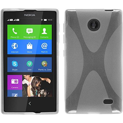 PhoneNatic Nokia X / X+ Hülle Silikon clear X-Style Tasche X / X+ Case + Schutzfolien