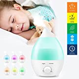 Humidifiers Accessories Best Deals - Ogima® 1.3 L Ultrasonic Cool Mist Humidifier Aromatherapy Aroma Diffuser quiet Operation +7 Color LED Light + Auto Shut Off Function for Home Bedroom Office Kids