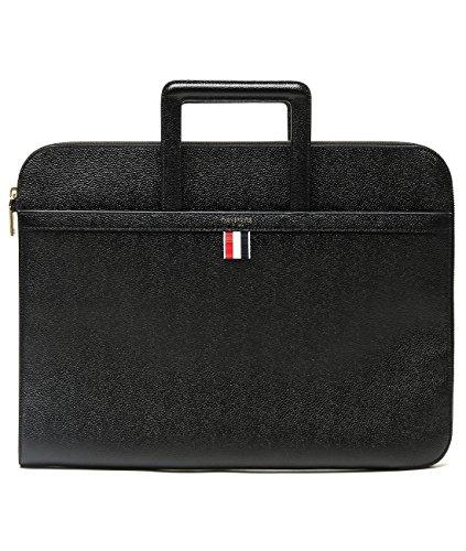 wiberlux-thom-browne-mens-pebbled-real-leather-portfolio-bag-one-size-black