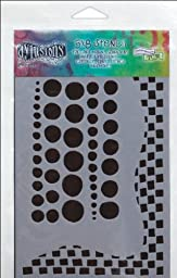 Ranger Dyan Reaveley\'s Dylusions Stencils, 5 by 8-Inch, Chequered Dots