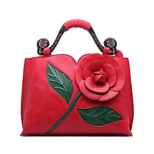 Realer Designer Pochette Portafogli Portafoglio borsa in pelle di grandi dimensioni con la maniglia per le donne rosso