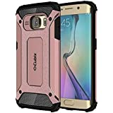 Galaxy S6 EDGE Case Cubix Rugged Armor Case For Samsung Galaxy S6 EDGE (Rose Gold)