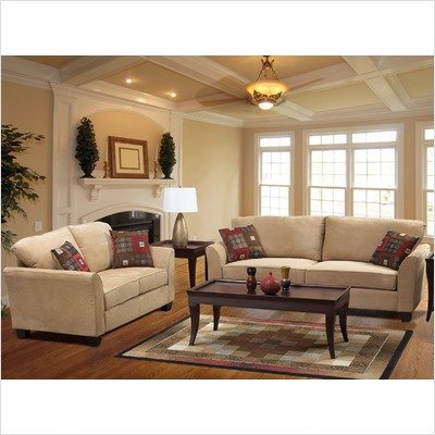 Picture of Welton USA Buck Two Piece Sofa and Loveseat Set in Light Brown (UH112SLE) (Sofas & Loveseats)