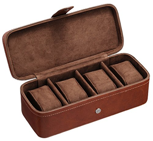 Fossil Leather Watch Box 4-piece Leather Watch Box