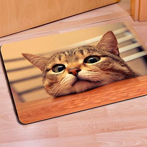 [FOR U DESIGNS]個性的な柄 マット 滑り止め付き ドアマット バスマット mat 保護マット doormat 約60CM*40CM 猫4