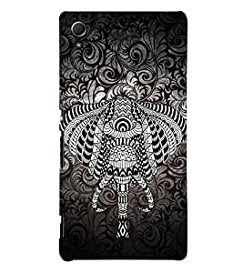 Indian Elephant Graphics 3D Hard Polycarbonate Designer Back Case Cover for Sony Xperia Z3+ :: Sony Xperia Z3 Plus