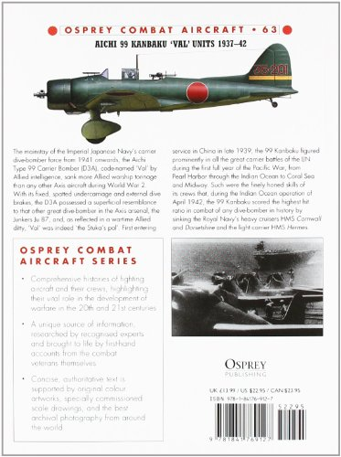 Aichi 99 Kanbaku 'Val' Units: 1937-42 (Combat Aircraft)