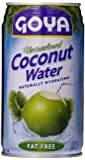 Goya Coconut Water, Unsweetened, 11.8 Ounce (Pack of 24)