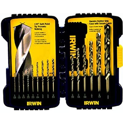 Irwin Industrial Tools Fractional Straight Shank Jobber Length Metal Index Drill Bit Set