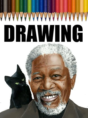 Time Lapse Drawing of Morgan Freeman and Black Kitty