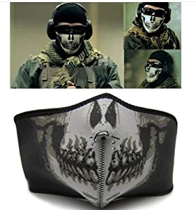 Tour de Cou/Masque Tête de Mort SKULL AIRSOFT PAINTBALL MOTO VELO SKI OUTDOOR