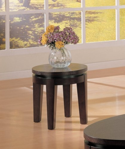 Cheap Coaster Bosworth Round End Table – Cappuccino Finish (B007YK2XUO)