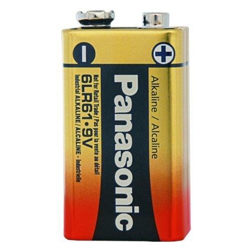 Case Of 4 Panasonic 9 Volt Alkaline Battery - Industrial Grade