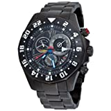 Stuhrling Original Men's 287.33591 Nautica Sports Swiss Quartz Black Dial Watch