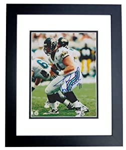 Tony Boselli Autographed Hand Signed Jacksonville Jaguars 8x10 Photo - BLACK CUSTOM... by Real Deal Memorabilia