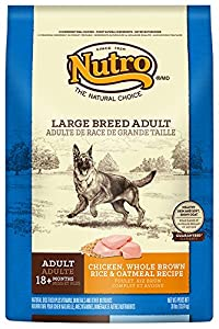 The Nutro Company Adult Large Breed Dog Food with Chicken, Whole Brown Rice and Oatmeal Formula, 30-Pound