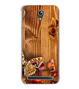 Butterflies 2D Hard Polycarbonate Designer Back Case Cover for Asus Zenfone Go ZC500TG (5 Inches)