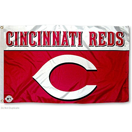 MLB Cincinnati Reds 3-Foot by 5-Foot Banner Flag