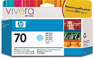 HP 70 Light Cyan 130 Ml Ink Cartridge Use In Selected Hp Designjet Printers.