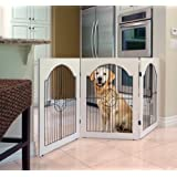 Majestic Pet Universal Free Standing Wire Insert Pet Gate, White