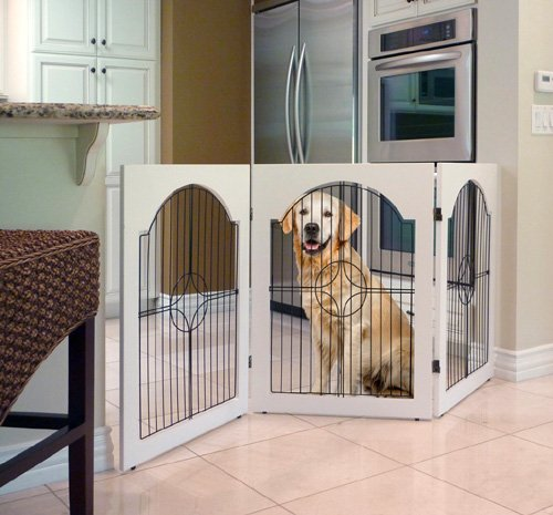Majestic Pet Universal Free Standing Wire Insert Pet Gate, White