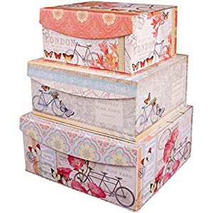 Amazon.com - Decorative Nested Flip Top Storage Boxes Nested (Set of 3)