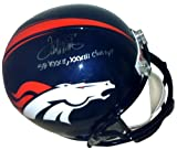 "Terrell Davis Autographed/Signed Denver Broncos Full Size Helmet ""SB XXXII, XXXIII Champs"" at Amazon.com"