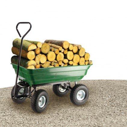 125l chariot de jardin cuve basculante 4 roues for Chariot de jardin 4 roues