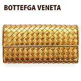 ボッテガヴェネタ BOTTEGA VENETA 財布 長財布 レディース 二つ折り ゴールド 150509 VBHX1 7714 [ウェア&シューズ]