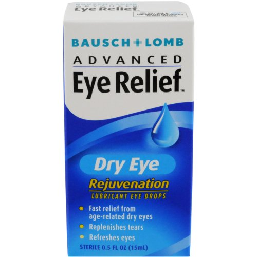 Bausch & Lomb Advanced Eye Relief, Dry Eye Rejuvenation, Lubricant Eye Drops, 0.5-Ounce Bottles (Pack of 3) (Advanced Relief compare prices)