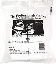 Professional\'s Choice Gun Cleaning Patches (500 Pack) Cotton Knit  - 3\