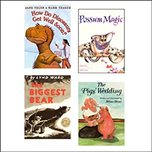 The Biggest Bear, How Do Dinosaurs Get Well Soon?, The Pig's Wedding, & Possum Magic Audiobook