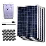 RENOGY® Premium Solar Panel Kit 400W Polycrystalline Off Grid: 4pc 100W Poly solar panel UL Listed+ 40A MPPT Charge Controller+ MC4 20ft Adapter Kit+ Mounting Z Brackets